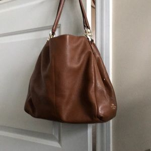 Brown Leather Coach Purse Bag